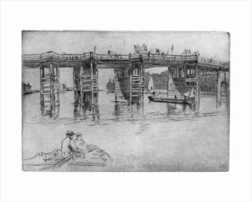 Old Putney Bridge by James Abbott McNeill Whistler