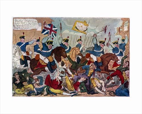 The Massacre of Peterloo, or Britons Strike Home by George Cruikshank