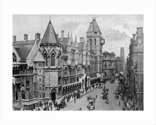 The Royal Courts of Justice, Strand, Westminster, London by Anonymous