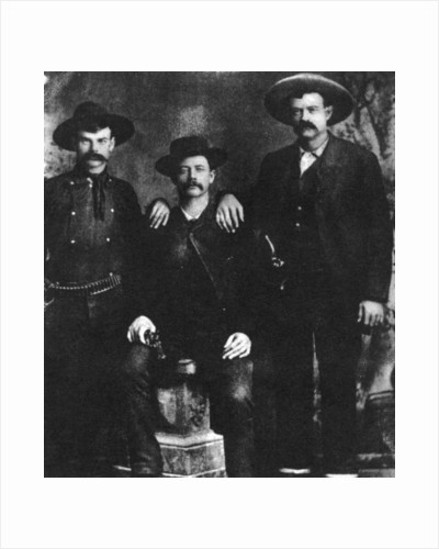 A disputed photograph of the train robber and outlaw Sam Bass by Anonymous