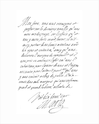 Letter by Marie de' Medici to the Duke of Savoy by Frederick George Netherclift