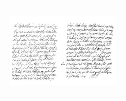 Letter by William III King of England by Frederick George Netherclift