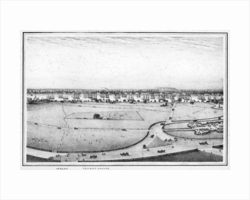 Strand and cricket ground, panorama of Calcutta, India by Frederick Fiebig