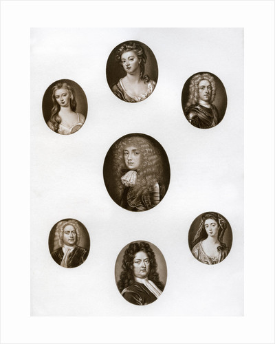 Group of portraits by Anonymous