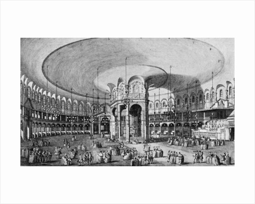 An Inside View of the Rotunda in Ranelagh Gardens by Anonymous