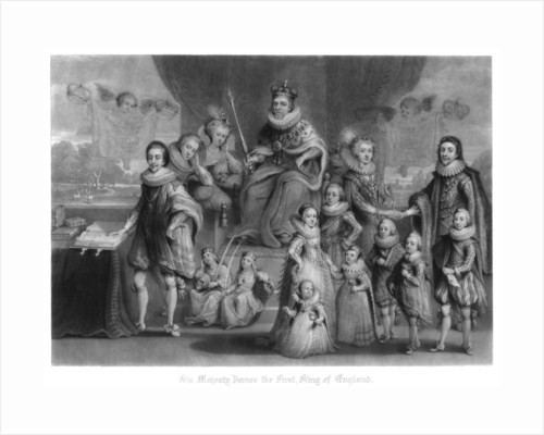 The family of King James I of England, Scotland and Ireland by Charles Turner