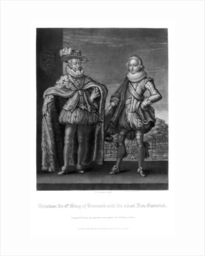 Christian IV, King of Denmark, with his eldest son Frederick by Robert Dunkarton
