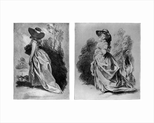 Gainsborough's studies for his celebrated portrait of the Duchess of Devonshire by Anonymous