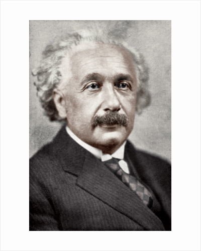Albert Einstein, German-Swiss mathematician and theoretical physicist by Anonymous