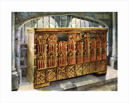 14th century buttressed coffer by Edwin Foley