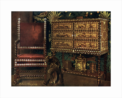Group of late 16th century continental furniture by Edwin Foley