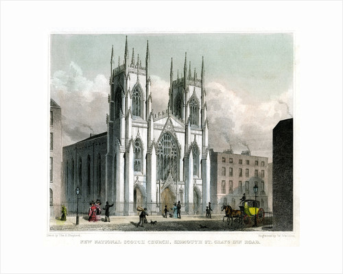 New National Scotch Church, Sidmouth Street and Grays Inn Road, London by W Watkins
