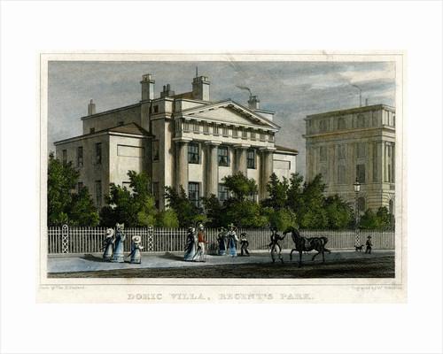 Doric villa, Regent's Park, London by W Watkins