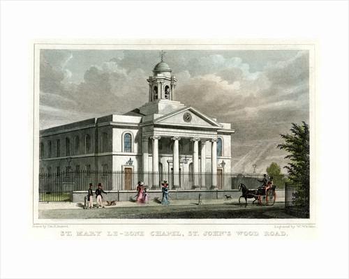 St Mary le Bone Chapel, St John's Wood Road, London by W Watkins