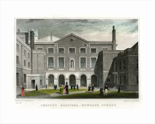 Christ's Hospital School, Newgate Street, City of London by W Wallis
