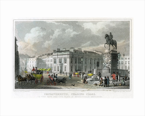 Improvements, Charing Cross, Westminster, London by Thomas Barber