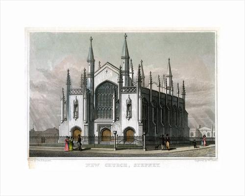 New Church, Stepney, London by William Deeble