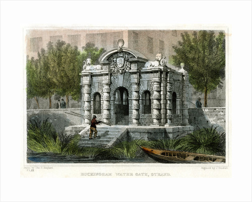 Buckingham Water Gate, Strand, Westminster, London by J Henshall