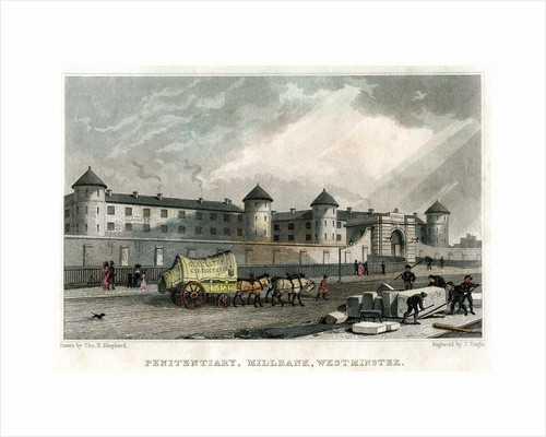 Penitentiary, Millbank, Westminster, London by J Tingle