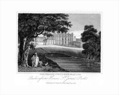 'Buckingham House, St James Park', London by JC Varrall