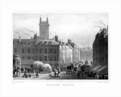 Holborn Bridge, London by William Woolnoth