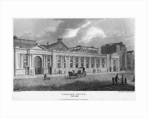 Carlton House, Pall Mall, Westminster, London by J Pye