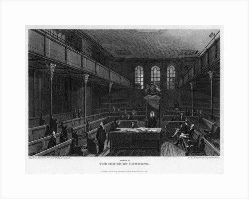 Chamber of the House of Commons, Westminster, London by Wallis