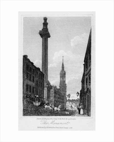 The Monument, City of London by J Greig