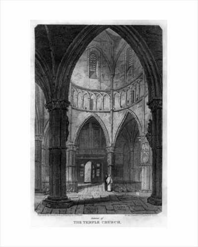 Interior of the Temple Church, London by Sands