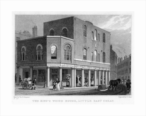 'The King's Weigh House, Little East Cheap', City of London by R Acon