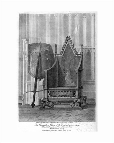 The coronation chair of the English sovereigns, Westminster Abbey, London by John Roffe