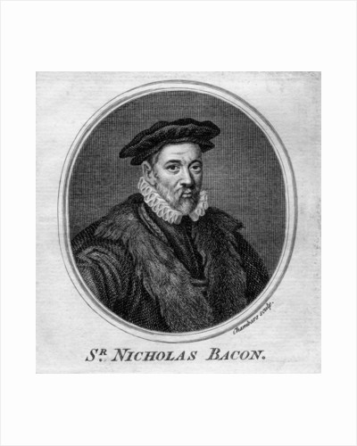 Sir Nicholas Bacon, 16th century English politician by T Chambars