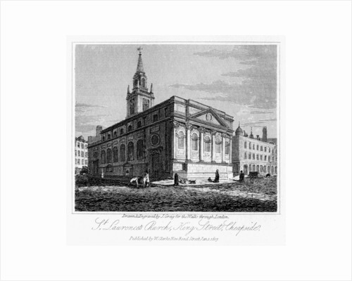 St Laurence's Church, King Street, Cheapside, City of London by J Greig