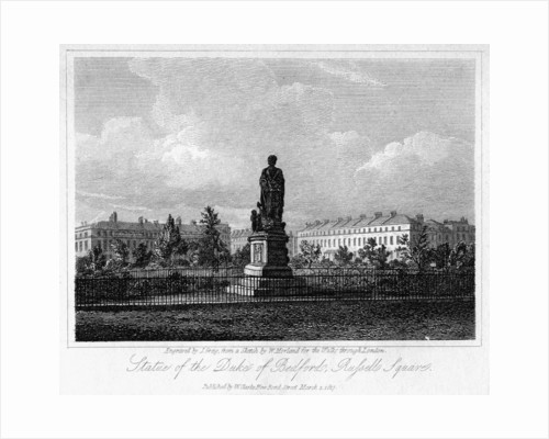 Statue of the Duke of Bedford, Russell Square, Bloomsbury, London by J Greig