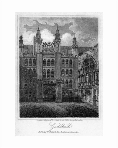 Guildhall, City of London by J Greig