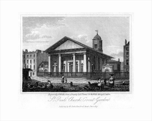 St Paul's Church, Covent Garden, Westminster, London by W Wallis