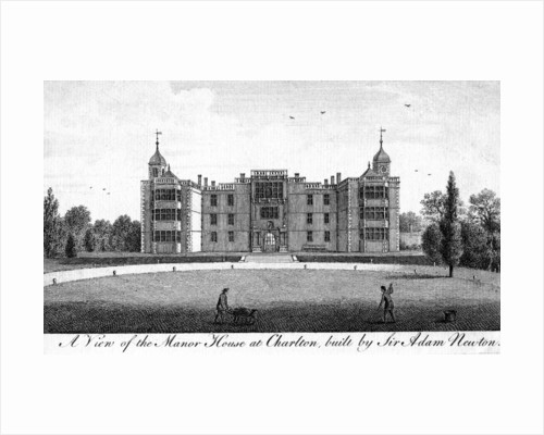 A View of the Manor House at Charlton, built by Sir Adam Newton by Anonymous