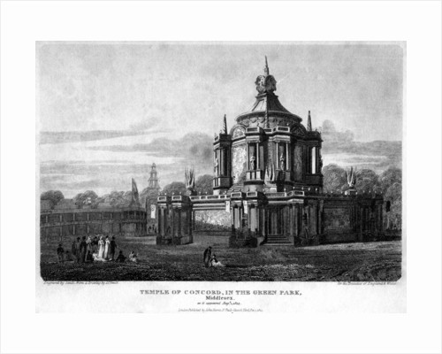 Temple of Concord, Green Park, Westminster, London by Sands