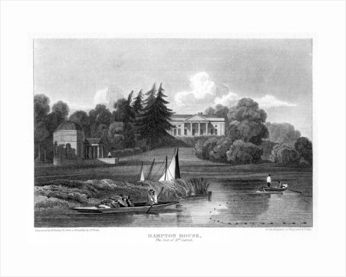 'Hampton House, the seat of Mr Garrick', Hampton, Richmond upon Thames, London by William Radclyffe