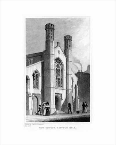 New Church, Saffron Hill, Camden, London by Thomas Hosmer Shepherd