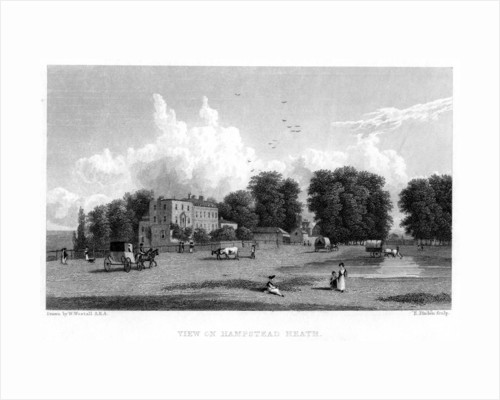 View on Hampstead Heath, London by E Finden