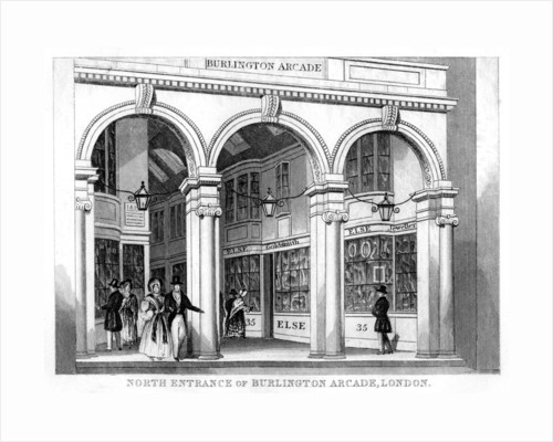 North entrance of Burlington Arcade, Westminster, London by Anonymous