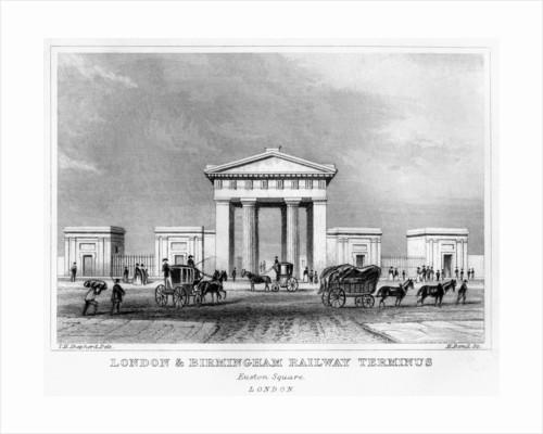 London and Birmingham Railway terminus, Euston Square, London by H Bond
