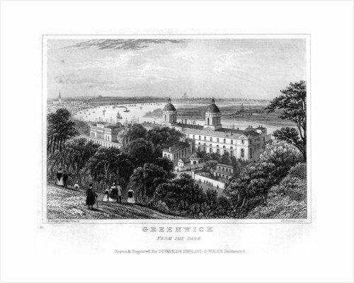 Greenwich, from the Park, London by H Bond