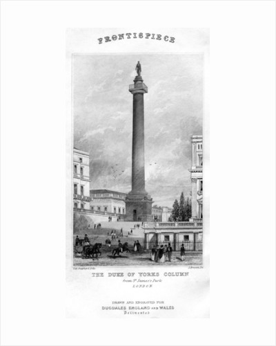 The Duke of York's Column from St James's Park, Westminster, London by Anonymous