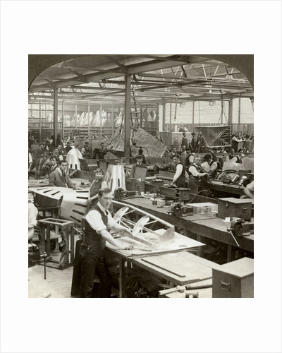 Sheet metal workers at a aeroplane factory, World War I by Realistic Travels Publishers
