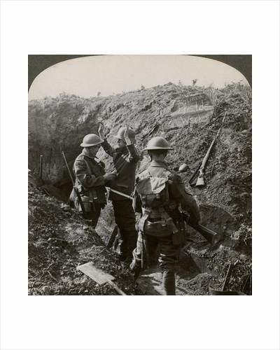 Interrogating a German prisoner to obtain information, World War I by Realistic Travels Publishers