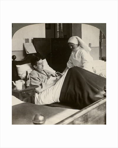 A soldier writing a letter in hospital, World War I by Realistic Travels Publishers