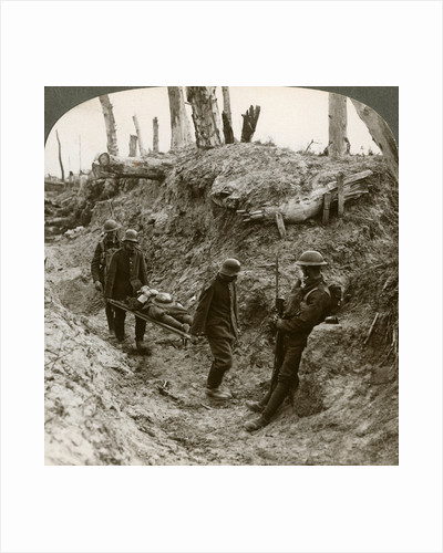 German prisoners carrying British wounded, World War I by Realistic Travels Publishers