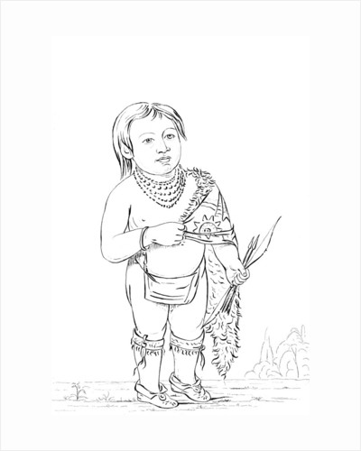 Six year old Native American chief by Myers and Co